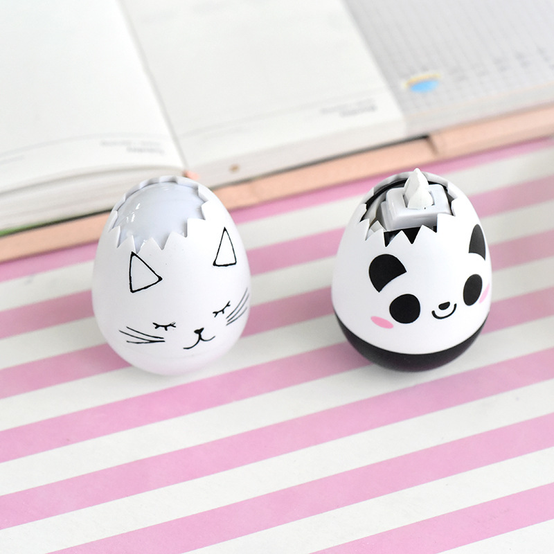 Panda Correction Tape Egg Fourniture Scolaire Kawaii Stationery Creative School Supplies Cancelleria Papelaria Corrector Escolar
