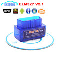 OBD2 Bluetooth Interface V2.1 ELM327 NEW OBD Tool For Android/Windows Wireless Bluetooth ELM 327 MINI Car Diagnostic ELM Tool