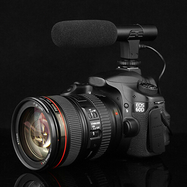 Photography Shotgun Condenser Interview Universal DSLR Camera Recording Record Video DV MIC Microphone High Quality