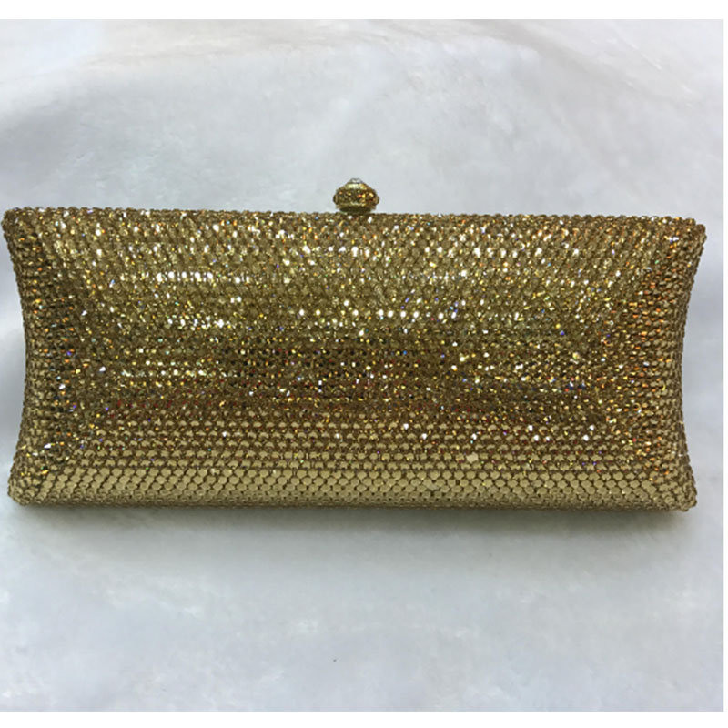 red Diamond Crystal Women Evening Cocktail Party Clutches Bags Wedding Dress Gold Handbag Purse Bridal Metal Clutch Bag silver women red gold blue diamond evening bags gold clutch hard box clutches bags day clutch party purse wedding bridal bag women bags