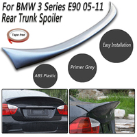 Unpainted Grey Wings Auto Parts For BMW 3 Series E90 2005 2011 Rear Trunk ABS Boot Lip Spoiler M Sports Rear Roof Trunk Lip