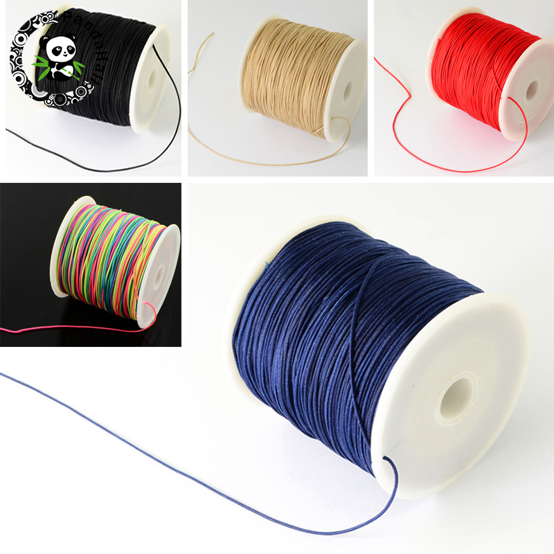 0.5mm 0.8mm Nylon Cord Beading Thread For DIY Bracelets Jewelry Making