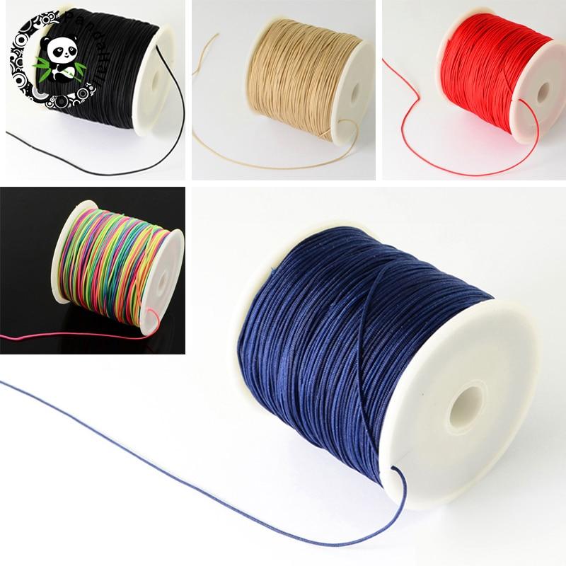 0.5mm 0.8mm Nylon Cord Beading Thread For DIY Bracelets Jewelry Making