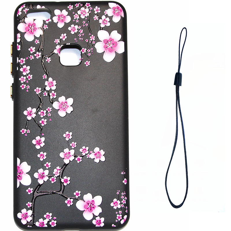 3D Relief flower silicone huawei P10 lite (5)