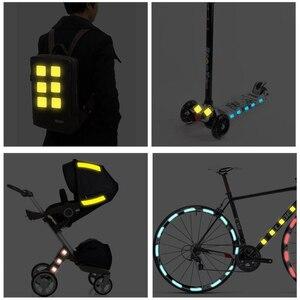 Image 5 - Светоотражающие наклейки на велосипед, клейкая лента для безопасности велосипеда, белые, красные, желтые, синие наклейки на велосипед, велосипедные аксессуары
