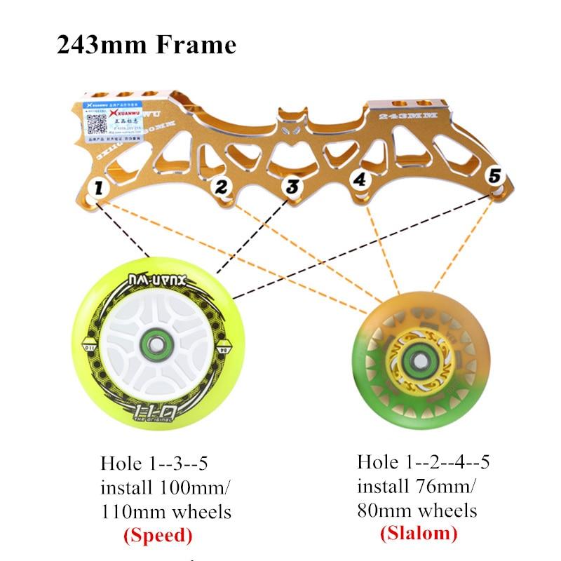 Converter para Patins de Velocidade em Linha Equilíbrio Hoocore Slalom Quadro 7000 Liga Cnc Patinação Base Azul Preto 110mm 80mm 3x110mm – 4x80mm