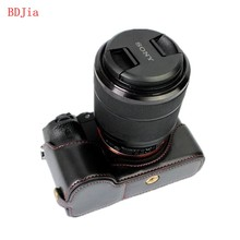 NEW! Fashional Сумка Для Фотокамеры Чехол Для Sony ILCE-7RM2 A7II A7R2 A7S2 A7M2 ИСКУССТВЕННАЯ Кожа Половина Тела Набор Крышка С Открытие Батареи