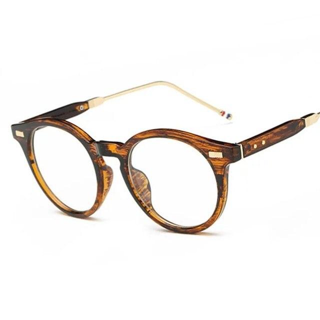 c56f6ff968dbb Fashion Women Round Eyewear Brand Designer Nostalgic Men Keyhole Frame  Clear Lens Glasses