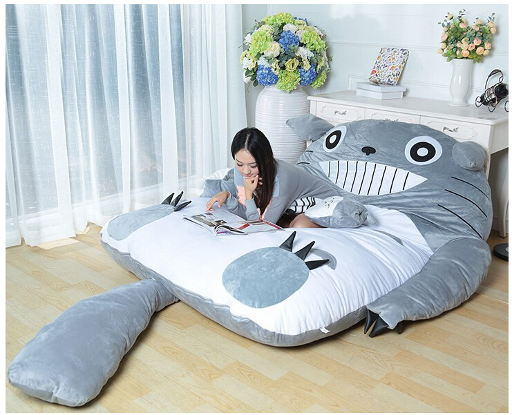 soft bed bag huge cute cartoon bed memory foam mattress cover pad bedding set beds from furniture on