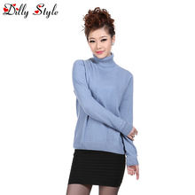 New Cashmere Sweater Women Spring Cashmere Pullovers Long Sleeve Turtleneck Sweater Female Casual Pullovers Sweater DL1268