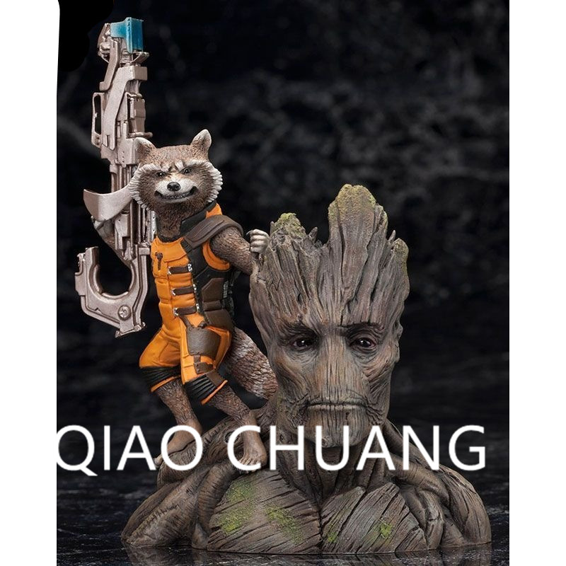 Avengers:Infinity War Guardians of the Galaxy Albero Man Groot Rocket Raccoon PVC Action Figure Model Toy G1124