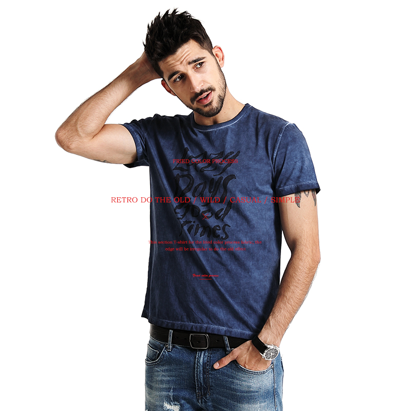 SIMWOOD 2017 New   T     Shirts   Men Short Sleeve Spring Summer 100% Pure Cotton O neck Slim Fit Letter Tees TD1140
