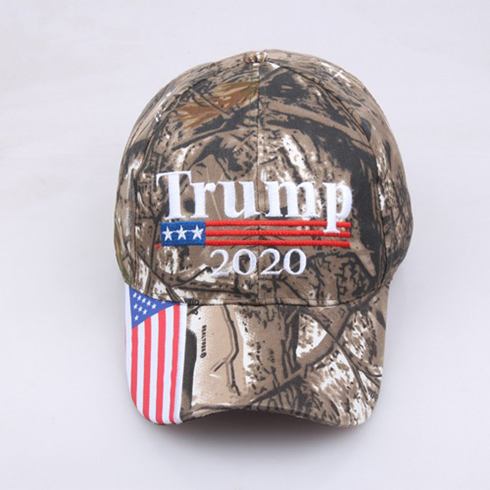 2019 Men Women Camouflage   Baseball   Hat Visor Trump 2020 MAGA Camo Embroidered Hat Keep Make America Great Again   Cap   US Stock