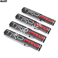 4PCS For TRD PRO Door Emblem ABS Sticker Set For Toyota Tacoma Black Red Car Decoration