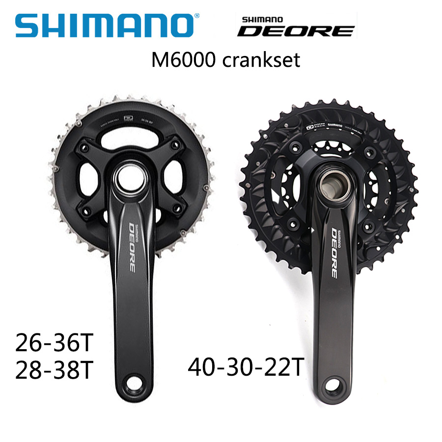Shimano DEORE M6000 2x10 3x10-Speed vélo vélo vtt pédalier avec bb52 pédalier 40-30-22T, 28-38 t 170mm