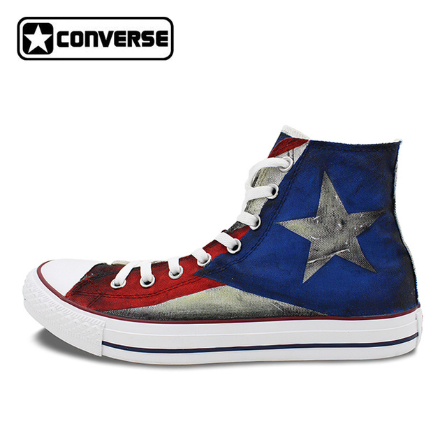 21bfc176fd18 ... promo code for usa puerto rico flag converse all star custom design  hand painted shoes man ...