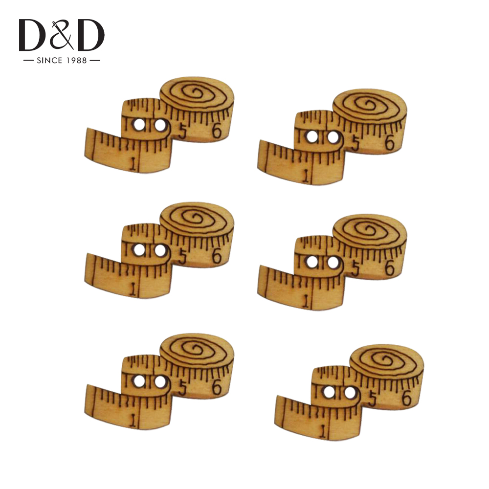 D d 15pcs set wooden buttons tape shape handmade carved for Decorative buttons for crafts