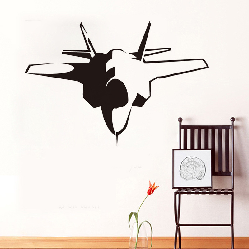 Разноцветный, дополнительно виниловые наклейки на стены мультфильм боевые самолеты детская комната Домашний декор гостиной спальня фоне о...