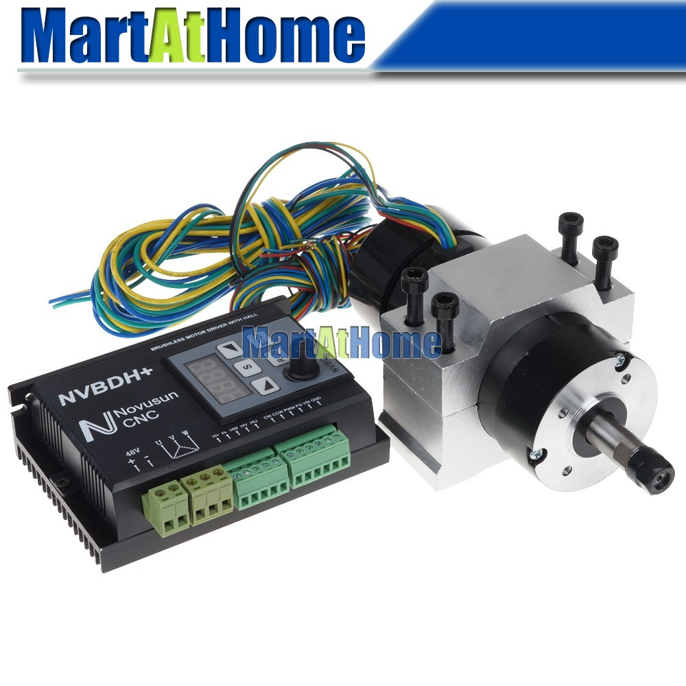 24-60V DC CNC Brushless Driver Kit 400W ER8 Brushless Motor with Hall & 600W Driver with Control Panel & Motor Mount #SM75924-60V DC CNC Brushless Driver Kit 400W ER8 Brushless Motor with Hall & 600W Driver with Control Panel & Motor Mount #SM759