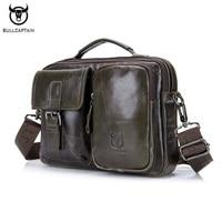 BULLCAPTAIN Brand Men Bag Genuine Leather Handbag Business Leisure Men Messenger Shoulder Bags Tote Male Cowhide