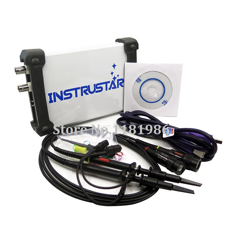 New 2 Channels ISDS220A 2 IN 1 PC USB virtual Digital oscilloscop+Spectrum analyzers 60MHz 200MSa/s