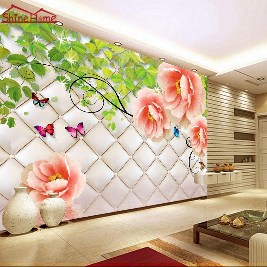 Keren Floral Kupu Kupu Wallpaper 3d Bata Dinding Kamar Foto