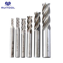 "6pcs Inch Milling Cutters 1/8-1/2"" HSS-AI Flat End Mill CNC 4 Flute Straight Cutter Set(China)"