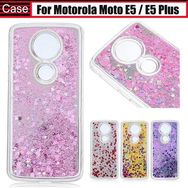huge discount 88dd0 00889 JURCHEN Phone Case For Motorola Moto E5 Case Luxury Liquid Sand ...