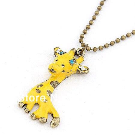 Korea new Cute style giraffe pendant outdoor fun & sports necklace