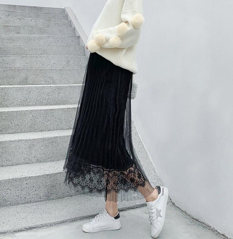 Средства ухода за кожей для будущих мам одежда беременных женщин нежный ветер плиссированная юбка в длинный живот Лифт регулируемый ошейник для собак - Цвет: black