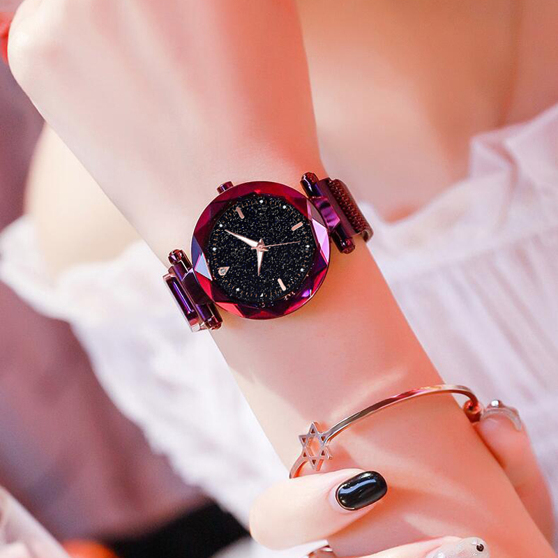 Fashion Luxury Women Watches Ladies Watch Starry Sky Magnetic Waterproof Female Wristwatch Luminous relogio feminino reloj in Women 39 s Watches from Watches