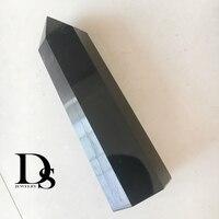 7.8 8.8Natural Large Black Obsidian Obelisk Wand Point Quartz Crystal Point Hexagonal Prism Home Decoration Crafts