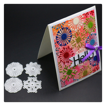 YINISE Metal Cutting Dies For Scrapbooking Stencils FLOWERS BACKGROUND DIY Album Cards Decoration Embossing Folder Die Cut