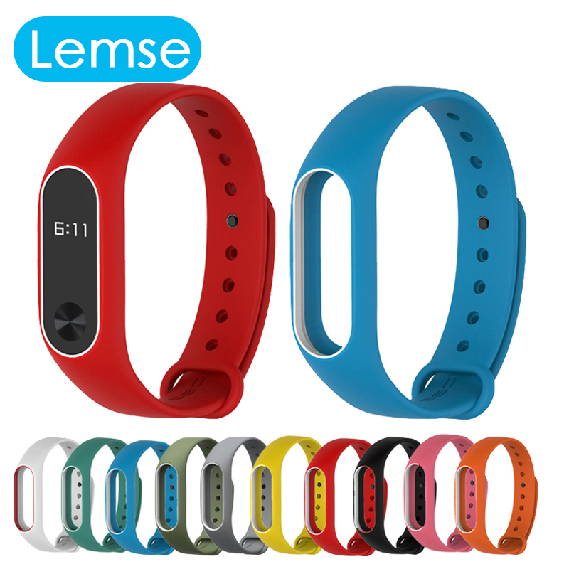 2016 New Silicone Replacement Wrist Strap For Miband 2 Xiaomi Mi Band