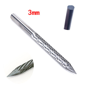 3mm Solid Carbide Cutter Rotary Burrs Shanks Carbon Steel Drill Bit Pneumatic Drill Bit Patch Plug