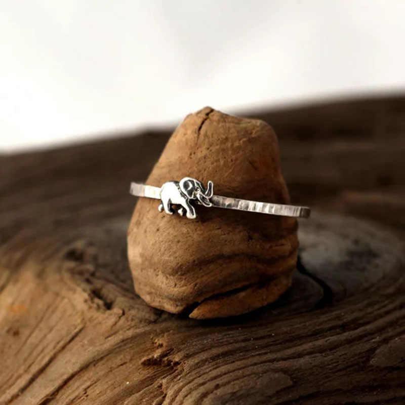 ใหม่แฟชั่นเงินคู่เครื่องประดับ Vintage สัตว์แหวนน่ารักแหวนช้างสำหรับคนรักงานแต่งงานของขวัญ Z4X335