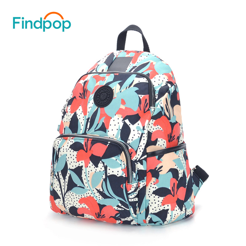 Findpop New Anti Theft Backpacks Women Waterproof Floral Printing Backpack For Women 2018 Large Capacity Canvas