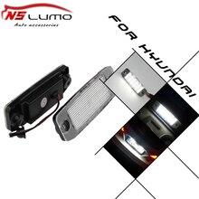 Lâmpada LED licença para Hyundai SONATA YF 10MY 10 2010 ~ 2010 ~ GF 10 2010 ~ 12 v carro número da placa da luz Led SMD license plate luz