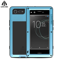 Love Mei Metal Armor Shockproof Case For Sony Xperia XZ Premium Cover Aluminum Waterproof Case For