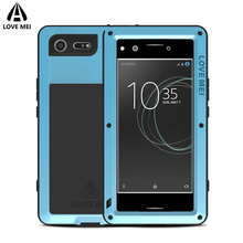 Love Mei Brand Case For Sony Xperia XZ Premium Metal Shockproof Phone Cover Sony Xperia XZ Premium Anti-Fall Rugged Armor Shell