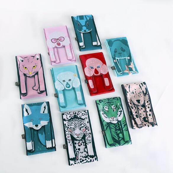 2018 Новое поступление шелковые шарфы Дизайнер 3D Животные Форма кошка тигр шарф для Для женщин сумки шарф ребенок шарфы 10,5x120 см