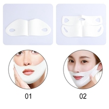 v-Shape Facial Mask Lifting Firming Skin Moisturizing Create Face Slimming Contour  Chin