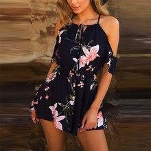 HOT sell summer jumpsuit woman 2018 Casual Playsuit Ladies Jumpsuit Romper Summer Floral Playsuit Bodysuit pantaloni J21