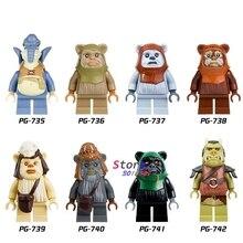 Único star wars Logray Paploo Tan Ewok Tokkat Conjunto Batalha de Endor Teebo Wicket modelos blocos de construção de tijolos brinquedos para crianças