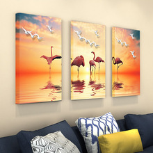 Pop Art Canvas painting  Wall Pictures for hotel Bedroom Decorative Home Decor Flamingo frameless poster wall stickers