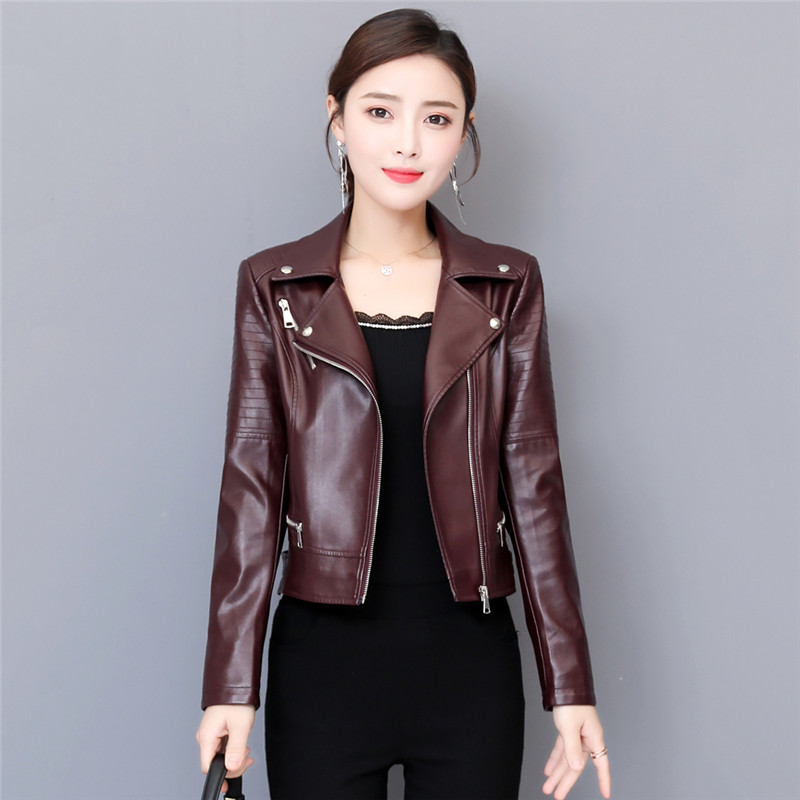 Genuine Leather Coat Women Short Jacket 2019 Spring Fashion New Slim Slimming Wild Outerwear Autumn Large Size Women Coat TTT149