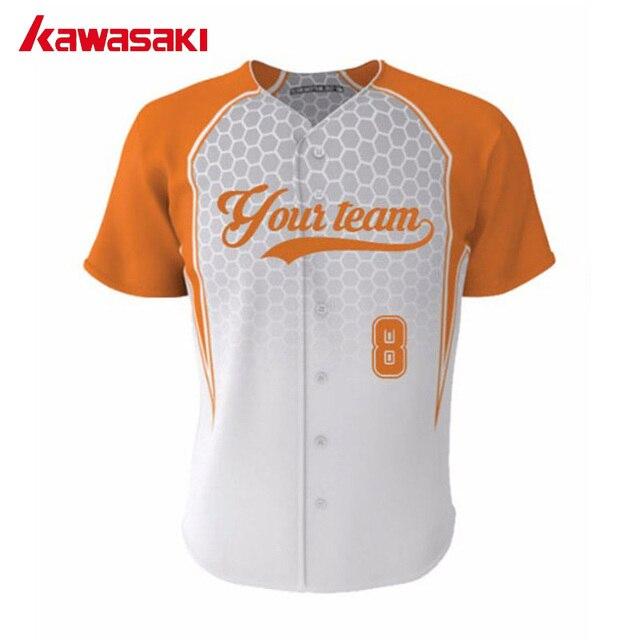 d2e70cc1fb8 Kawasaki Brand Custom Mens & Women Baseball jersey Top Fans Practice HipPop  Style Plus Size Training Softball Jerseys Shirt