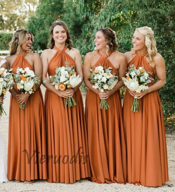 Sexy Sleeveless Bridesmaid Dresses Long Chiffon Wedding Party Dresses Robe Party Gowns in Bridesmaid Dresses from Weddings Events