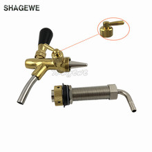 Adjustable Chrome Golden Plating Draft Beer Tap Faucet with 4inch Long Shank Combo Kit Kegerator Tap Beer Homebrew beer barrel set with adjustable beer faucet accessories brass beer dispenser pump suit kegerator tap homebrew beer equipment