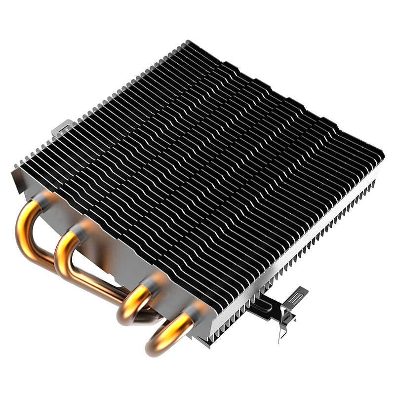 Aigo CPU del dispositivo di Raffreddamento LED Ventola di Raffreddamento della CPU PWM silenziosa di raffreddamento della cpu LGA/2011/115X/775/AMD 3Pin PC CPU Radiatore Di Raffreddamento 4 tubi di rame fan